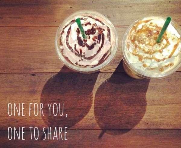 スタバのBuy 1 Get 1 Free 「One for you, One to  share」