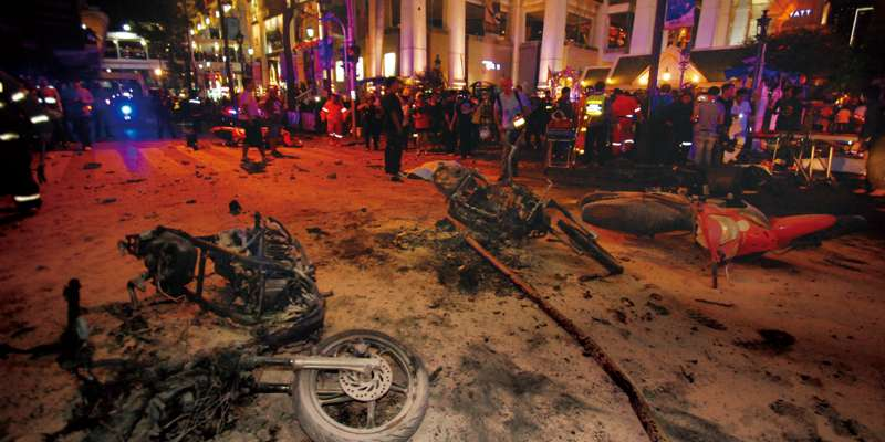 バンコク中心部で起きた凄惨な連続爆発事件