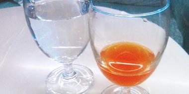 実施前の飲み物