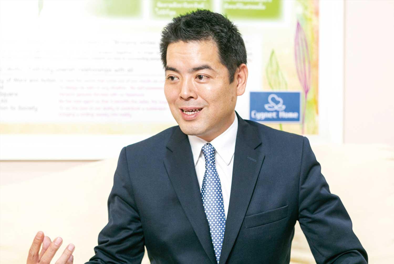 「ご縁を大切に、誠実なサービスを提供することを心掛けています」と語る桜井社長