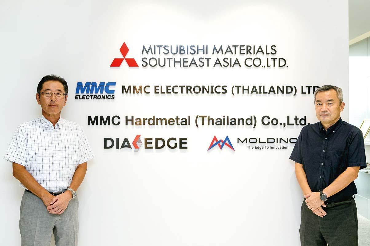 「タイ人幹部を育てるのも私たちのこれからの課題です」と堀江社長(左)と小池副社長