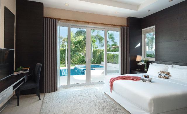 清潔に管理された部屋それぞれにプールが備わっています The Ville Jomtien Pool Villa ザ・ヴィル・ジョムティエン・プール・ヴィラ