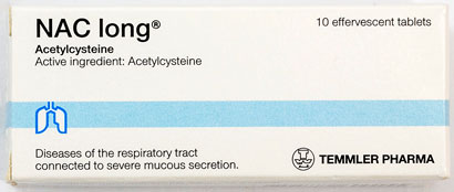 Naclong - ナクロン - 効能:痰が絡む咳 - 用法・用量:1日1回、1回1錠を就寝前にコップ半量の水に溶かし服用 - 情報:去痰剤 - 価格目安:180B前後