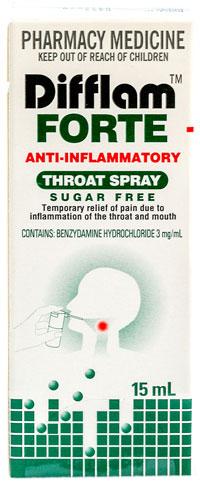 Difflam Forte - ディフラム・フォルテ - 効能:のどの痛み - 用法・用量:1日3回、または症状の気になるときに - 情報:のどの痛み、炎症の緩和 - 価格目安:350B前後