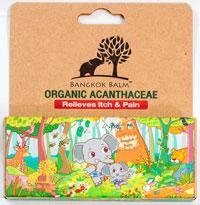 Organic Acanthaceae - オーガニック・アカンサス - 効能:かゆみ - 用法・用量:1日に2〜3回、清潔にした患部に塗って使用 - 情報:虫刺されのかゆみや腫れ、軽いやけどに使えるオーガニックジェルバーム - 価格目安:100B前後