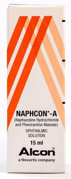 Naphcon-A - ナファコン・エー - 効能:目の充血・かゆみ - 用法・用量:1回につき1〜2滴、1日3〜4回点眼 - 情報:目のかゆみや赤みに - 価格目安:125B前後