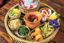 【Baan Namprik Savoey】Thai Rice Noodle  Namprik Set (2〜3人前) 699 Bath