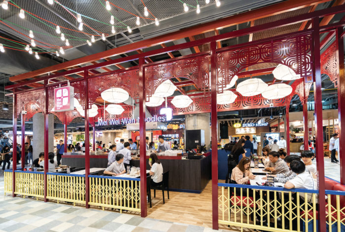 今年9月にオープンした、MRTサムヤン駅そばの新商業施設「Samyan Mitrtown」内のフードコートにある