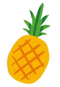 パイナップル สับปะรด サッパロッ(ト)
