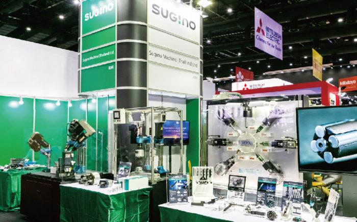 SUGINO MACHINE (THAILAND) 「主力製品の洗浄機、バリ取り用ツールホルダーなどをPR」