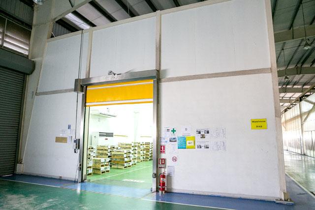 マスターコイルや製品を在庫する定温・定湿型倉庫