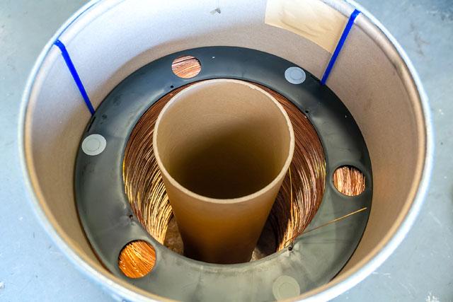 ลวดเชื่อม CO2 ขนาด 1.2mm. ขนาดบรรจุ 250 กก.