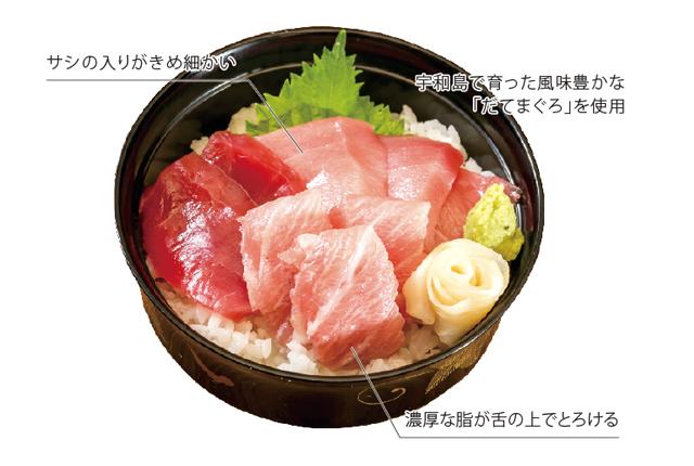 生のまま日本から空輸した鮮度抜群のブランド本マグロ。良質な脂の甘〜い香りが口の中に広がります。醤油の塩梅も絶妙。魚にうるさい方も、きっと唸る一杯です!