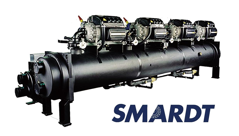 大容量空冷チラー「SMARDT」。COP=6の超高効率を誇る