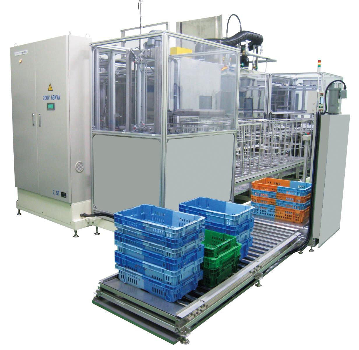 業界初、容器サイズを選ばない革新的なコンテナ洗浄脱水装置「HDWシリーズ」