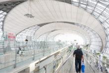スワンナプーム空港で追跡情報登録のスペースを設置