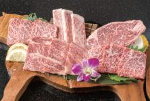 【おまかせ和牛盛り 3,890B】近江牛のロースやサーロイン、イチボなど5種を一度に味わえる