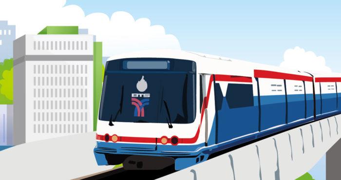 2000年に開通した、バンコク都心部を走る高架鉄道です。バンコクを東西南北に結び、今も延伸工事が行われています。