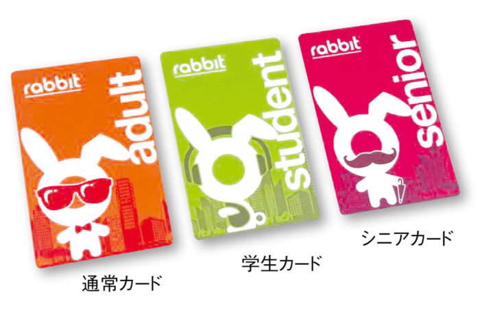 ラビットカード ICチップ内蔵のカード式チケット。日本のSuicaやPasmoのようなプリペイド機能と、回数券機能があります。カードの購入・初回のチャージには、身分証の提示と登録手続きが必要。