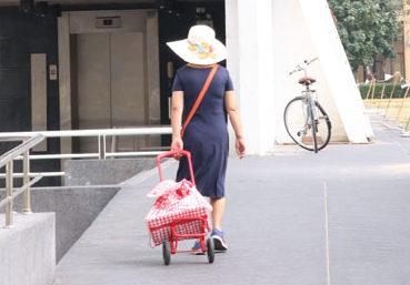キャリーバッグは 必須アイテム!? 帰る頃には両手いっぱいの荷物になることもしばしば。慣れた人はキャリーバッグ持参で歩いてますよ!