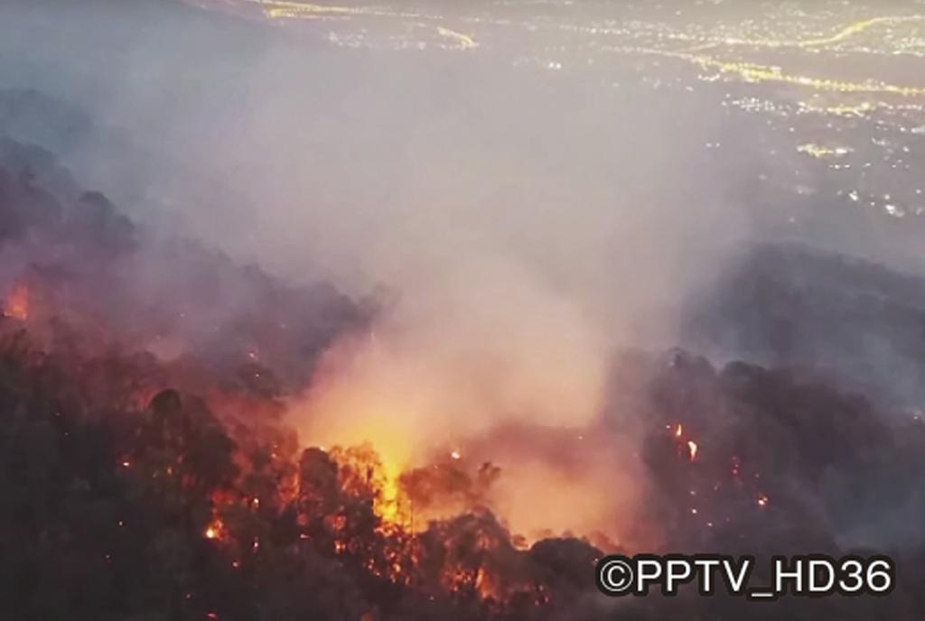 ドイステープで深刻な森林火災 - ワイズデジタル【タイで生活する人のための情報サイト】