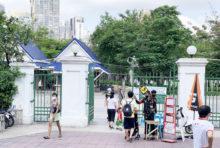 バンコク都内の公園 再びロックダウンか