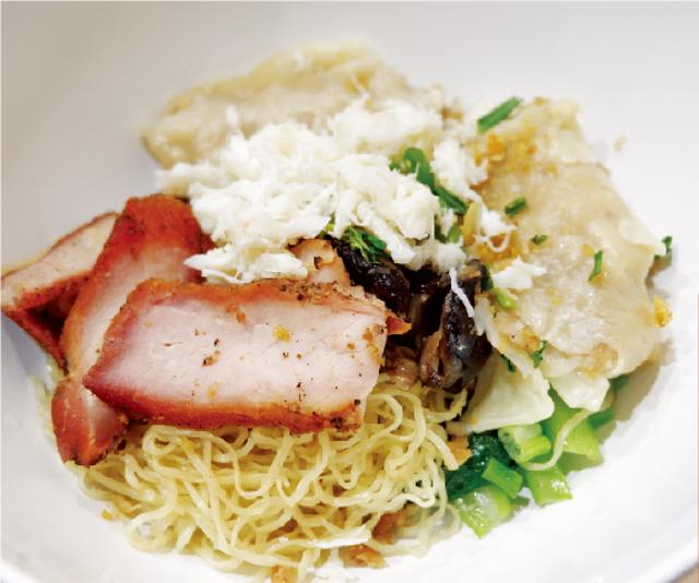 カニ肉と中華風焼豚肉入り ワンタン麺・・・ 102B