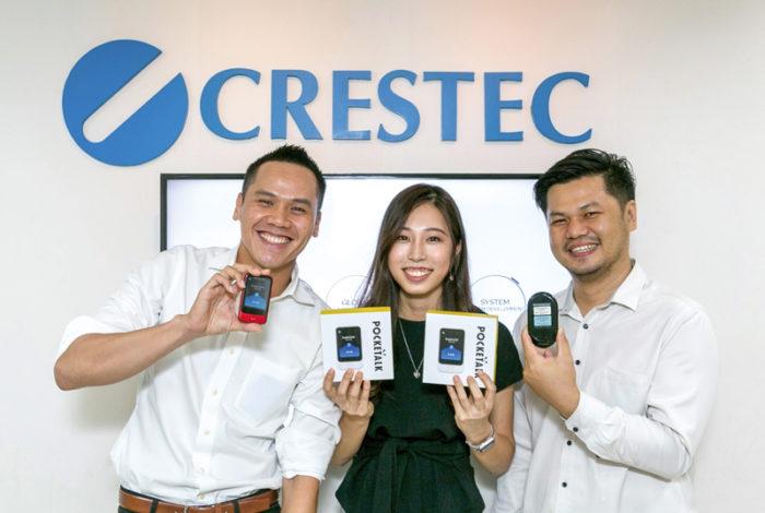 「POCKETALKをタイに輸入している唯一の会社として、日本人はもとよりタイ人マーケットにも広めたい」と小林美希セールスリーダー(写真中央)
