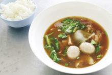 旨味が詰まった牛肉の煮込みスープ
