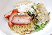 シーロムの贅沢ワンタン麺