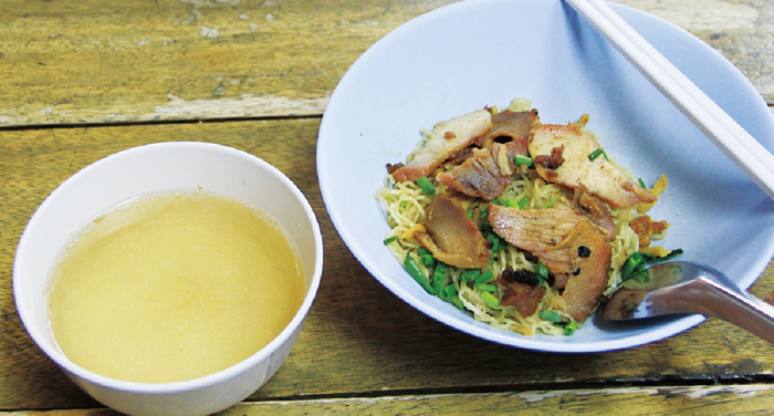 中華風焼き豚入り汁なし中華麺 ・・・40B