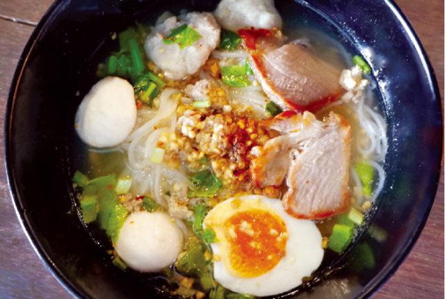 半熟卵とひき肉入り トムヤム麺・・・ 55B