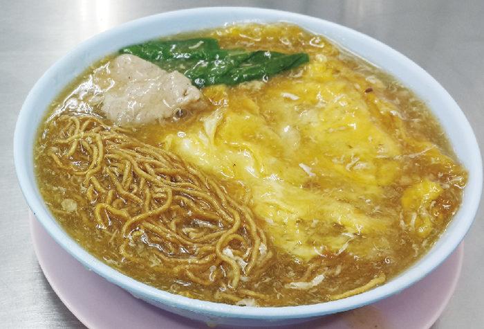 卵焼き入り揚げ中華麺のあんかけ ・・・60B