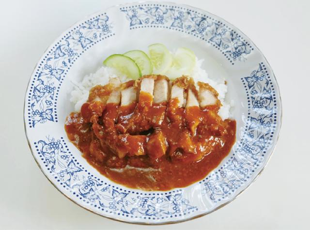 カリカリ揚げ豚肉のせご飯 ・・・30B