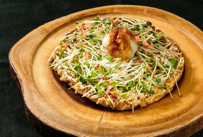 【JUUBEE焼き KYOTO PIZZA 250B】大根おろしとポン酢で食べるヘルシーな一品