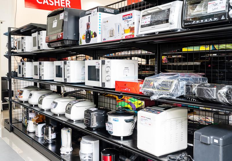 家電製品は同店が得意とするジャンルの一つ
