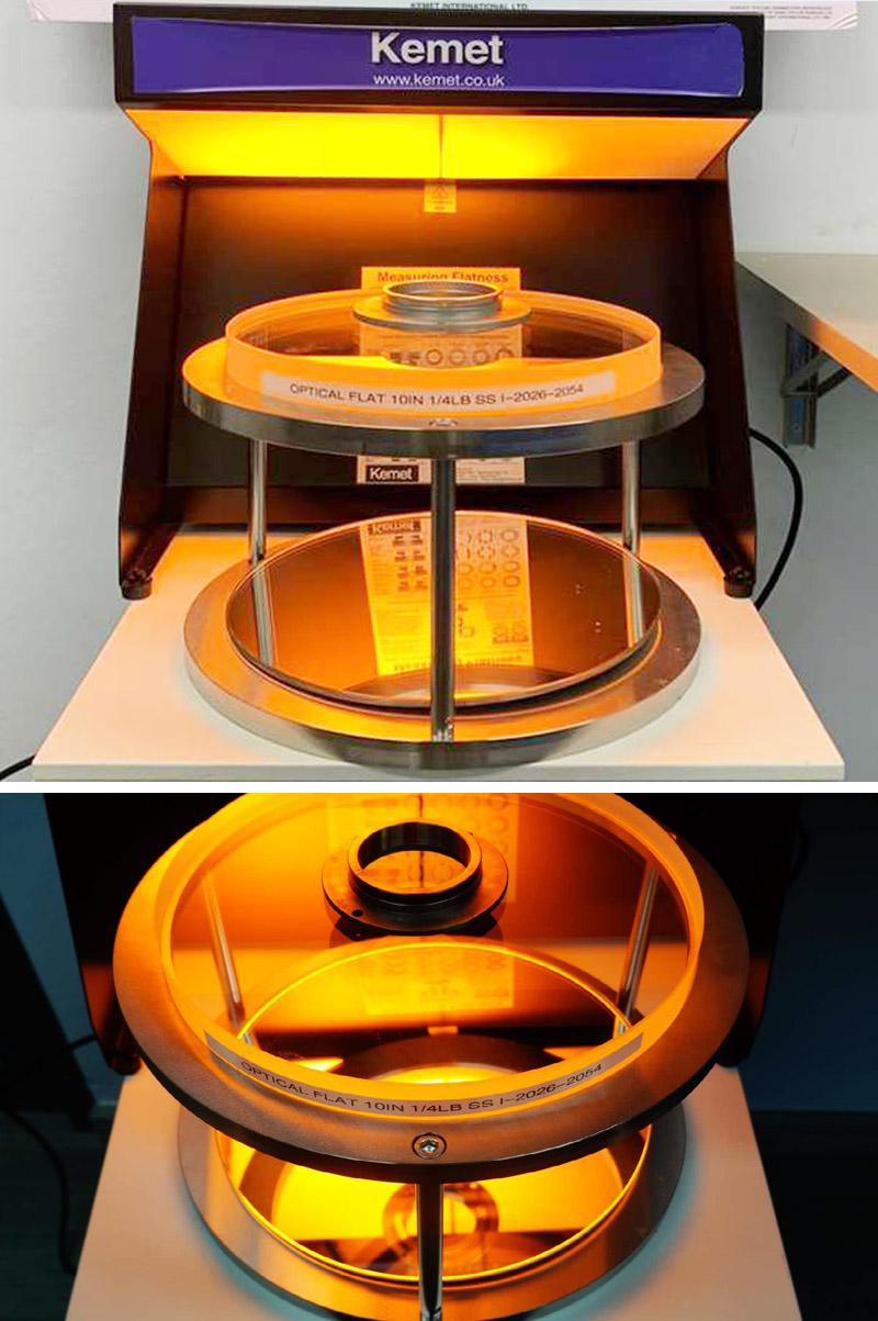【Optical Flat】 ใช้หลอดโซเดียม วัดความเรียบของชิ้นงานต่าง ๆ