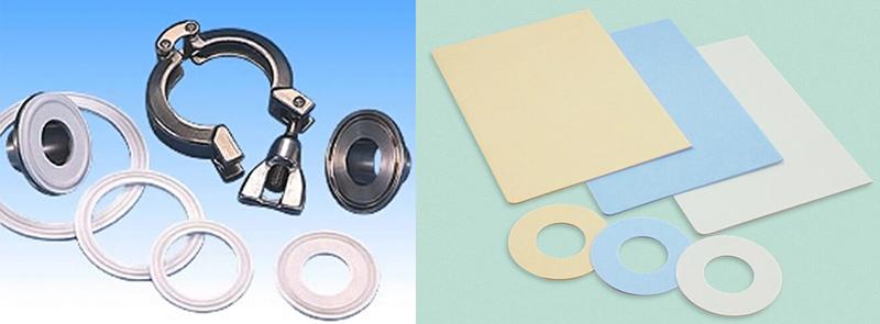 【ガスケット】 うず巻形・金属箔複合膨張黒鉛・アラミド繊維複合ゴムシート・低クリープPTFEなどさまざまな製品展開を行う