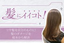ツヤ髪を 自分のものに! 髪のダメージを根本から解決 2,000B〜