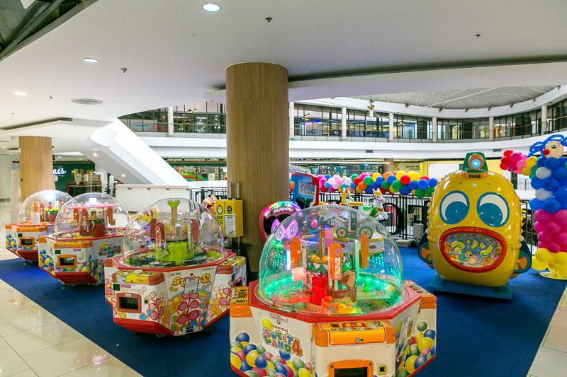 家族みんなで楽しめるモーリーファンタジー(ゲームセンター)も大人気