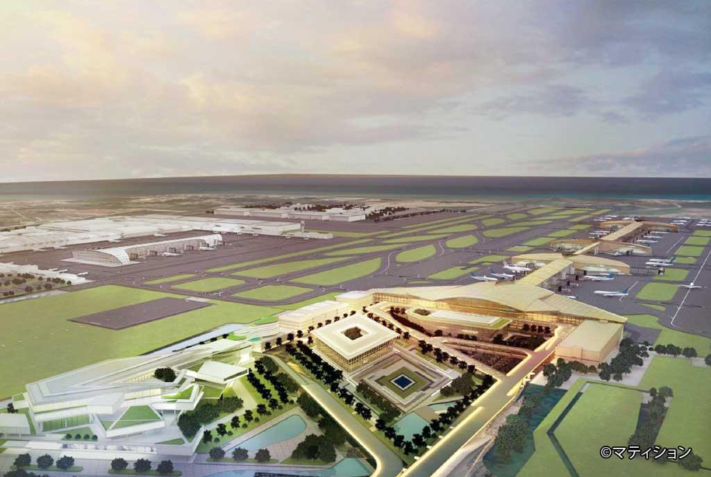 東部パタヤ中心部から南へ約40kmに位置するウタパオ国際空港は、海軍が所有する航空基地に併設されている。