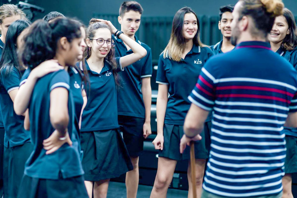 KISの学生たちは、世界54カ国以上から来ています。 学生は、異なる文化やそれぞれの人の価値観が異なることなどを認め合い、相互に尊敬しあい理解し合っています。
