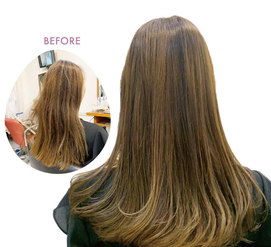 ヘアスタイル ノンブリーチハイライトandローライト、ヘアカラー、活性酸素除去 - Hair Style Non-Bleach Highlights - 1,500B〜、2,000〜3,000B、200B