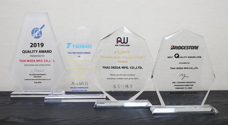 2020年にはこのようなQuality Awardを4社から授与された
