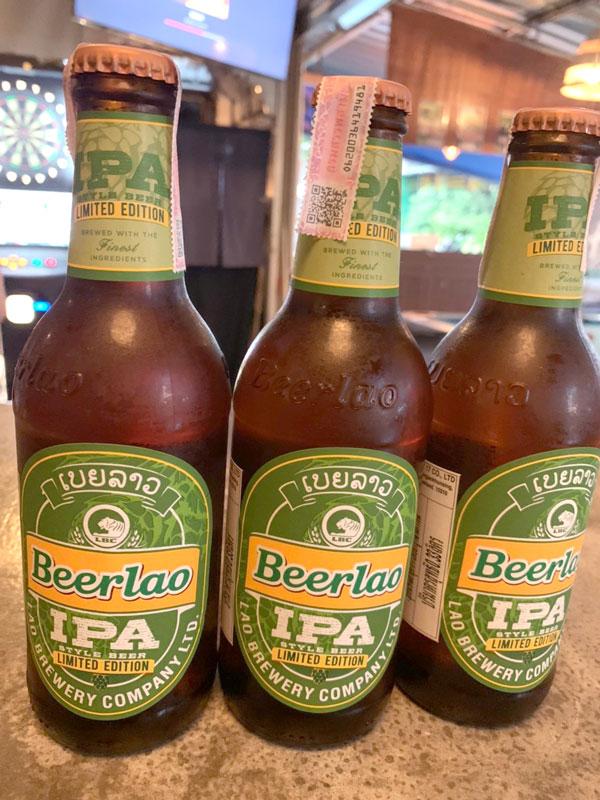 2021年4月末まで「WiSE見た」の一言で、 Beer Lao IPA 1人1本、もしくは生ビールをサービス!