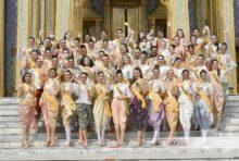 世界61カ国の美女が一堂に伝統衣装でワット・プラケオ参拝