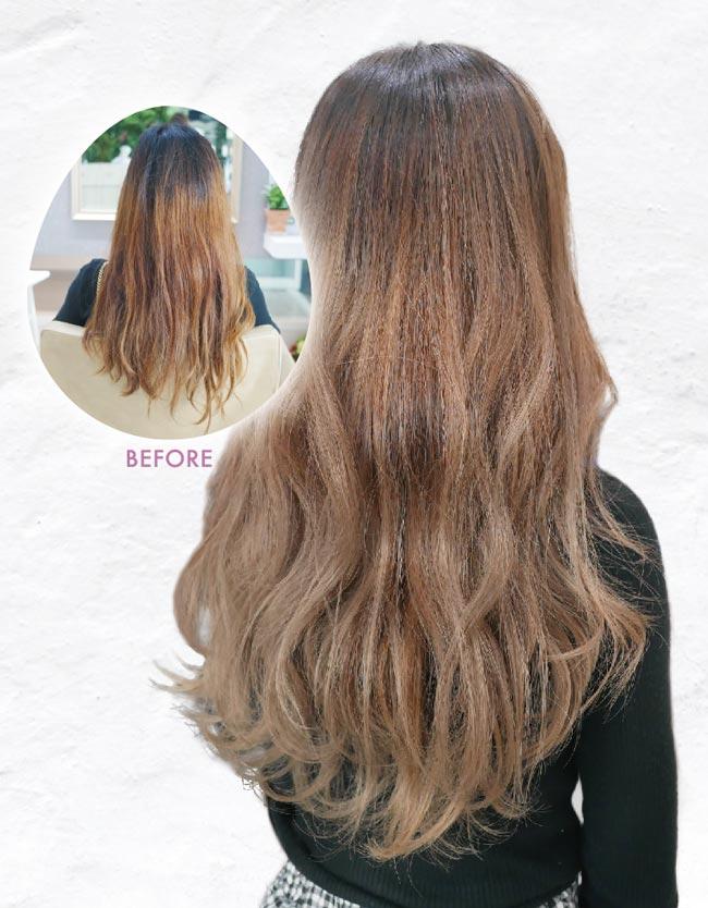 ヘアスタイル カラー・ハイライト - Hair Style Highlight Mocha Beige - 1,800B〜・2,000B〜