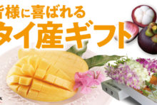 """JALグループの翼とネットワークにのせて 贈って喜ばれるタイ産の""""プレミアム""""を 日本全国へお届け&手軽な土産サービスも!"""