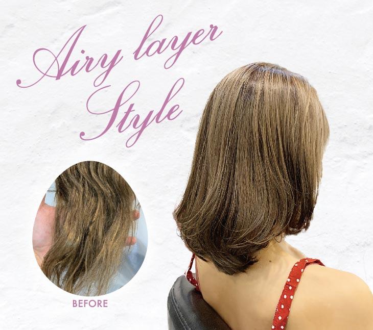 ヘアスタイル 活性酸素除去(水素濃度3倍)・オーナー似合わせカット・タイ人トップスタイリストカット - Hair Style Airy layer Style - 600B・1,600B・800B