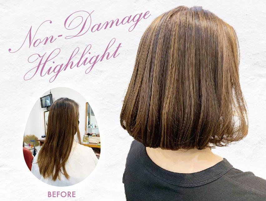 ヘアスタイル スタイリング・楽チン・オリジナルカット ・似合わせcolor前頭ミディアム・ ノンブリーチハイライトandローライト - Hair Style Non-Damage Highlight - 1,600B・2,500B・1,000B(8月末まで!)ノンブリーチハイライトandローライトのみの場合は1,500B